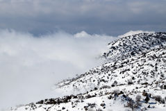 Snow On The Mountains Royalty Free Stock Image