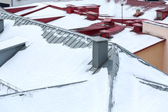 Free Snow On The Roof, Winter Scene Royalty Free Stock Image - 63979636
