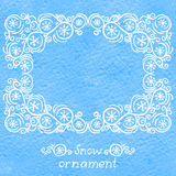 Snow ornament Royalty Free Stock Photo