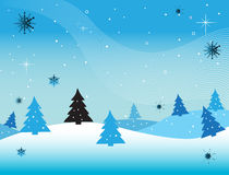 Snow over the hills Royalty Free Stock Photography