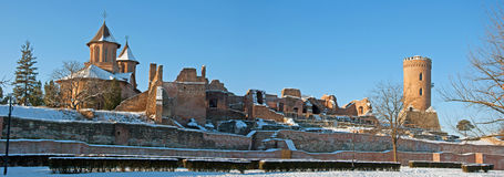 Snow over ruins Royalty Free Stock Images
