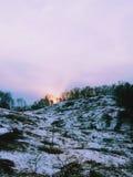 Snow på berg Arkivfoton