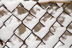 Snow på staket Fotografering för Bildbyråer