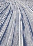 Snow på vägen Royaltyfria Bilder