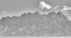 Snow Packed Organ Mountains. This is an image of the Organ Mountains in Las Cruces, NM. It rarely if ever snows here so this was a treat to photograph Royalty Free Stock Photos