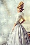 Snow palace stock photo