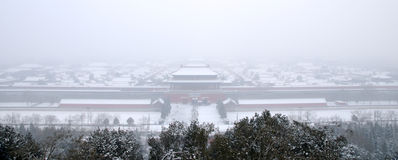 Snow in the Palace Museum Royalty Free Stock Photography