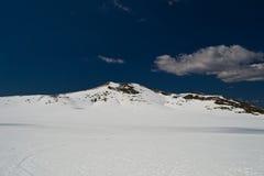 Snow panorama. Fresh fallen snow in the Italian Appenin mountain, near Frosinone Royalty Free Stock Photography