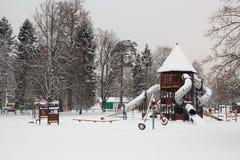 Snow in park Stock Photo