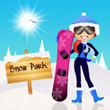 Snow park Royalty Free Stock Image