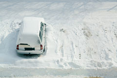 Snow Parking Stock Photography