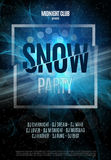 Snow Party Flyer. Abstract Winter Poster Background. Vector Illustration. Stock Photos