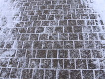 Snow Path. Picture of a pathway covered with snow Stock Images