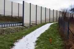 Snow on path Stock Photo