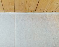 Snow patina on wooden lags background Stock Images