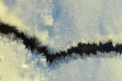 Snow pattern on ice Royalty Free Stock Images