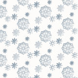 Snow pattern. Seamless pattern from snowflakes in bright shades Royalty Free Stock Photos