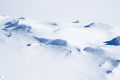 Snow pattern structure and snowdrifts Stock Photography