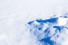 Snow pattern structure and snowdrifts Stock Image