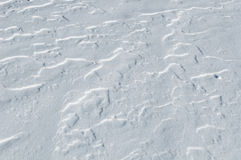 Snow pattern surface wave Stock Images