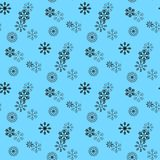 Snow pattern. Vector seamless pattern with snowflakes. Festive Christmas and New Year background. Winter illustration. Eps10 stock illustration