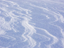 Snow patterns. Wind-blown Patterns in the Snow stock photography