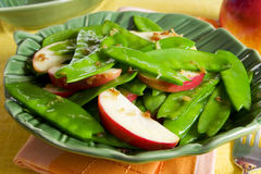 Snow pea and apple salad Royalty Free Stock Image