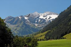 Snow peak of Alpine Grossglockner mountain Stock Photography