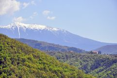 Snow peak chalet Stock Images
