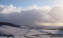 Snow in the Peak District, Northern England Stock Images