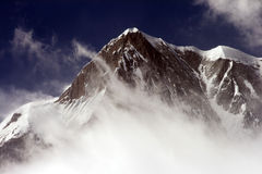Snow peak mountain Stock Photo