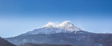Snow Peak Under Blue Sky during Daytime Royalty Free Stock Photos