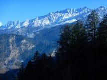 Snow peak in Winter Kuari Pass Royalty Free Stock Photography