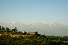 Global warming Snow melting himalayan Mountains In Royalty Free Stock Photo