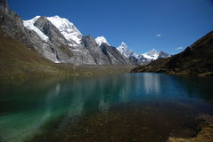 Snow Peaks And Mountains In Peru Stock Images