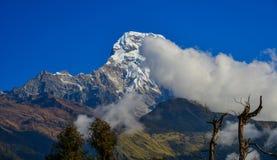 Snow peaks of Annapurna Range royalty free stock image