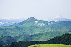 Snow peaks of Caucasus Stock Photo