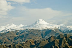 Snow peaks covered Royalty Free Stock Image