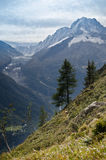 Snow peaks of French Alps Royalty Free Stock Image