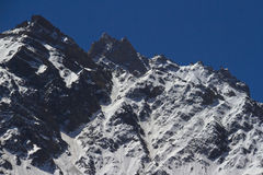Snow peaks of Himalayas Stock Photo