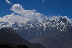 Snow peaks of the Himalayas Royalty Free Stock Photography
