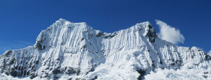 Snow peaks in Huascaran national park, Peru royalty free stock image
