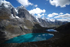 Snow peaks and lakes Royalty Free Stock Photography