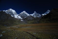 Snow peaks and mountains in Peru Royalty Free Stock Photo