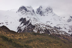 Snow on the peaks of Norway Royalty Free Stock Image