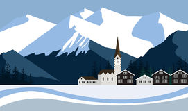 Snow peaks Royalty Free Stock Photos