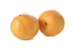 Snow pear or Fengsui pear on white Stock Images