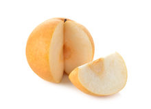 Snow pear or Fengsui pear on white Royalty Free Stock Photo