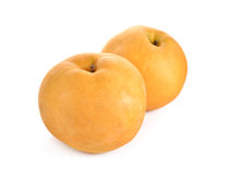 Snow pear or Fengsui pear on white Stock Photo