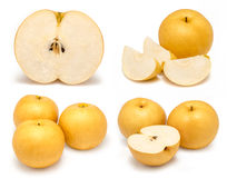 Snow pear or Fengsui pear on white. Background Stock Photography